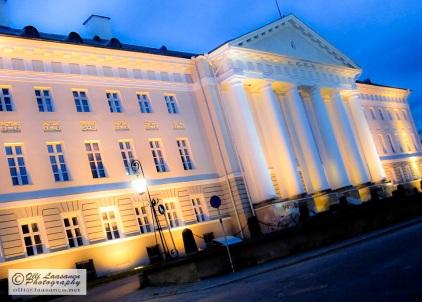 University of Tartu in the night lighting. - Estonia 2009.