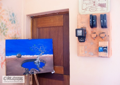 Strong basic blue is dominating the painting. - South Africa 2008