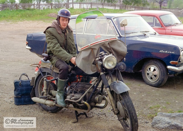 Vaasa, Finland (June 1971, the biker is not related to me or my friend).
