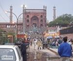 Approaching Jama Masjid mosque.