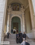 Photographs taken in front of the side entrance to St. Peter's (2011)