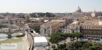 View to the St. Peter's from Castel Staint' Angelo (2011)