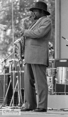 Leo Wright with alto sax