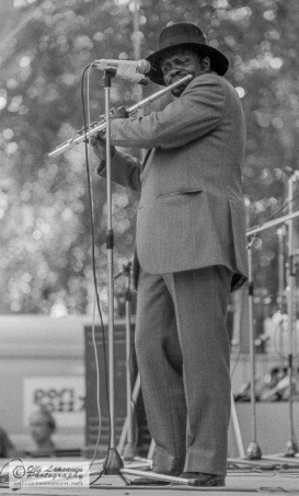 Leo Wright with flute.