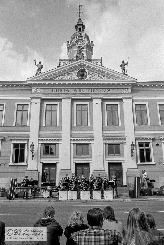 US Army Band in front of Pori Town Hall, 16th of July 1976