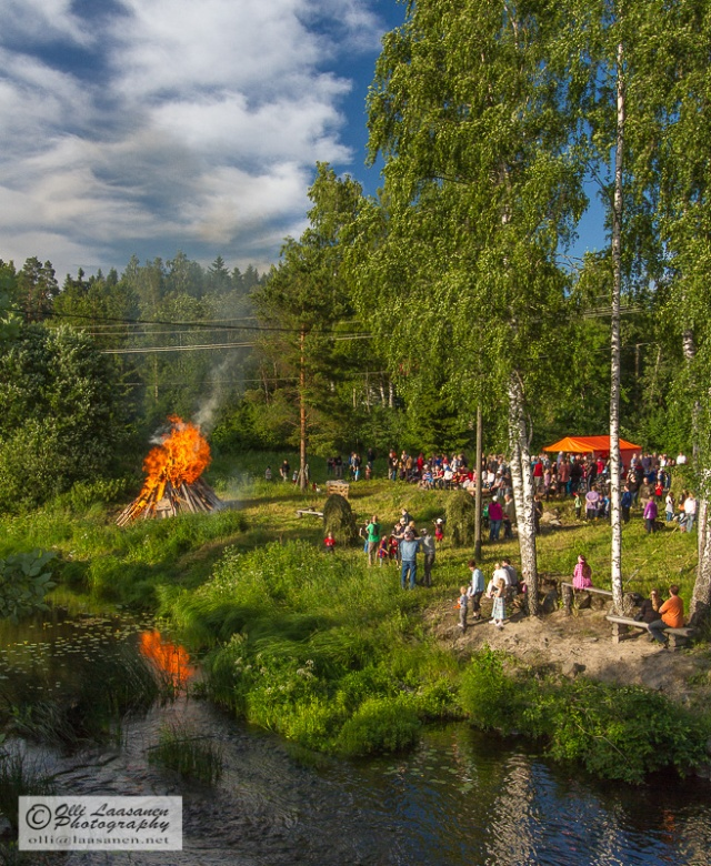 Midsummer fest at Hirvihaarankoski, Mäntsälä, June 2011