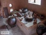 Museum kitchenware in the Quinta de Bolivar.