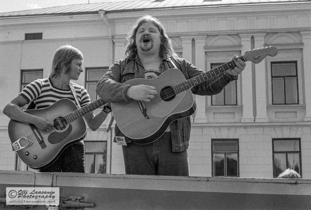 Jussi Raittinen ja Kajde Westerlund Porissa 15.7.1972.