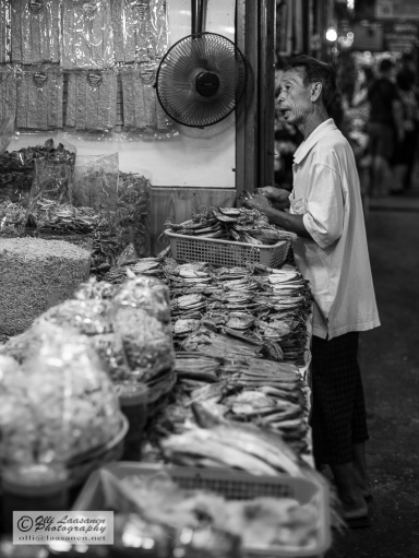 Dried fish shopkeeper.