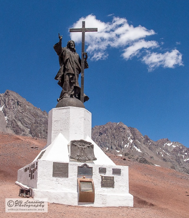 Christ the Redeemer of the Andes, statue made by Mateo Alonso.