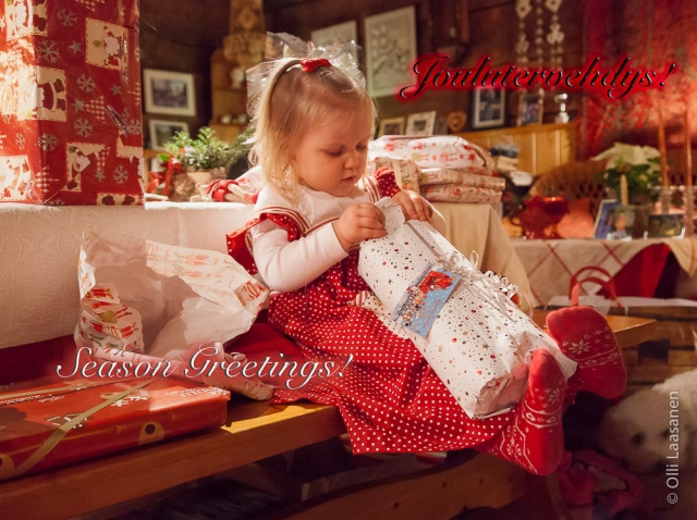 Excitement during Christmas 2011.