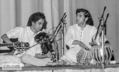 L. Shankar (violin) and Zakir Hussain (tabla) - July 16, 1976