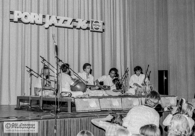 "Shakti: T. H. ""Vikku"" Vinayakram (ghatam), John McLaughlin (guitar), L. Shankar (violin) and Zakir Hussain (tabla), July 16, 1976"