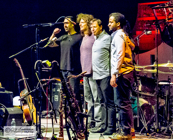 Unity Group from the left: Antonio Sanchez (dr), Pat Metheny (g), Chris Potter (sax), Ben Williams (b)