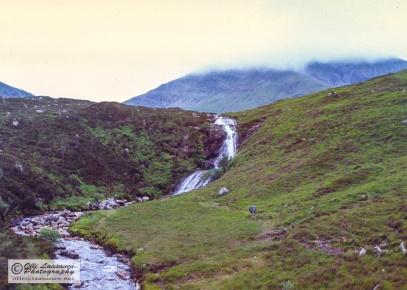 Hikers in the Isle of Skye