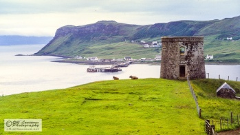View over the bay to Uig