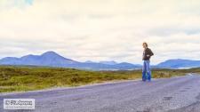 Self-portrait in the beautiful scenery of Skye.