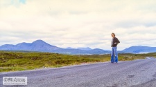 Self-portrait in the beautiful scenery of Skye.