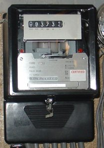 Three Phase Electricity Meter (Image source: Wikipedia)
