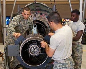 Jet engine mechanics in US Army (Source: Wikipedia)