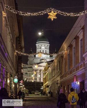 Helsinki Cathedral seen via Sofiankatu (7 Dec 2014)
