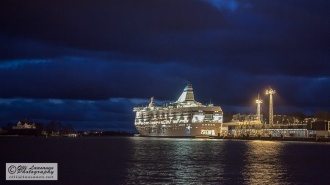 The ferry ready to leave to Sweden (7 Dec 2014)