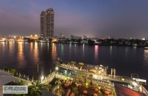 The view to the river. Bangkok, Thailand.