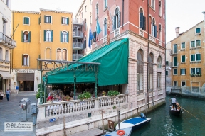 Charm of old building. Venice, Italy.