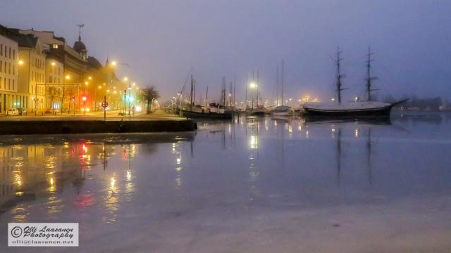 Helsinki, Pohjoissatama Harbour in February 2015
