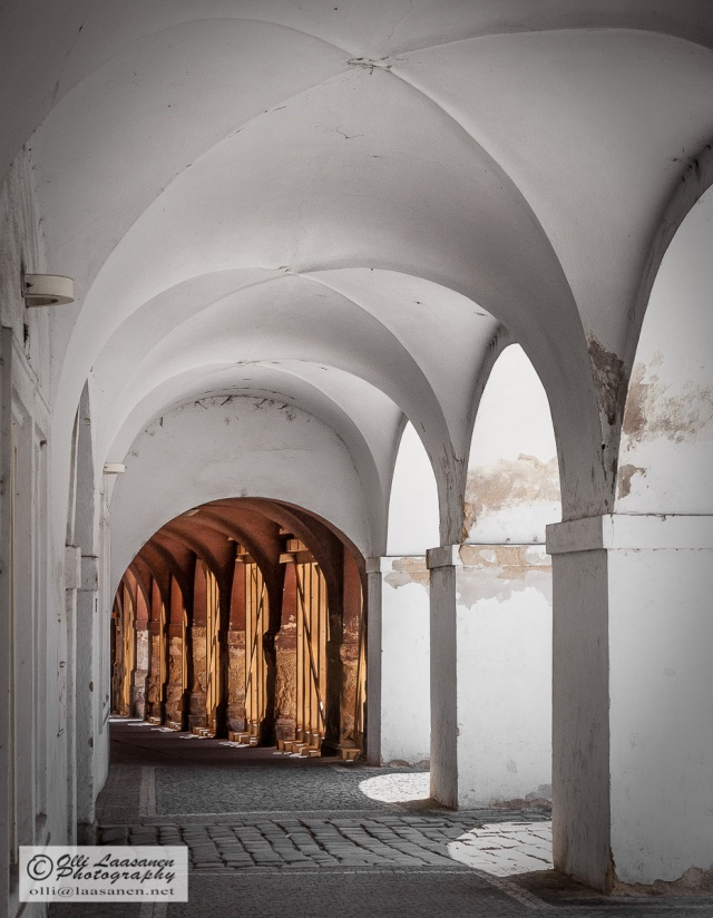 Arcade in Prague, Czech Republic, near Strahov Monastery.