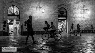 Night time on the Pjaca (Piazza)