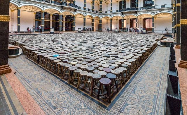 Ai Wei Wein antiikkijakkarainstallaatio Berliinissä 2014