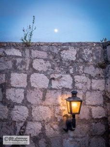 The moon and the lamp.