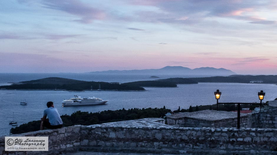 The dusk over the Adriatic Sea.