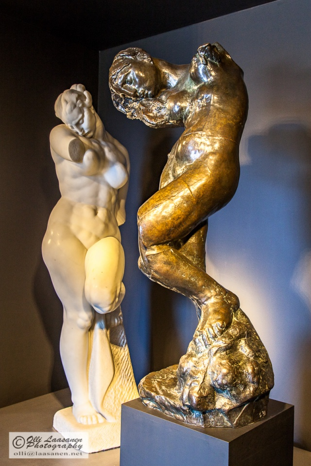 "Ivan Meštrović's work was admired by Auguste Rodin, whose ""Meditations"" (on the right) was the inspiration for Meštrović's ""Psyche"", both statues shown in Ivan Meštrović Gallery during summer 2015."