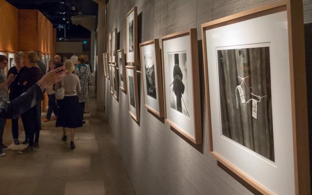 Näyttelyn avajaisissa 30.9.2015