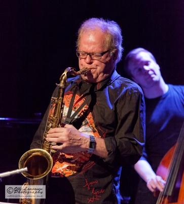 Koko Jazz Club, Helsinki 7 March 2013: Eero Koivistoinen (ts), Jori Huhtala (b)